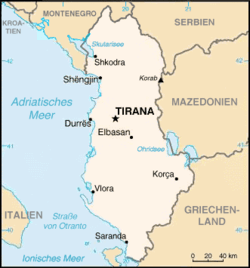 Bản đồ Albania