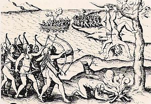 English: A 15th Century Woodcut depicting the ...