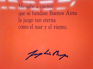 Cita de Borges en la estación del Metro de Mad...