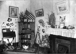 Corner in a Negro teachers' home, New Orleans,...