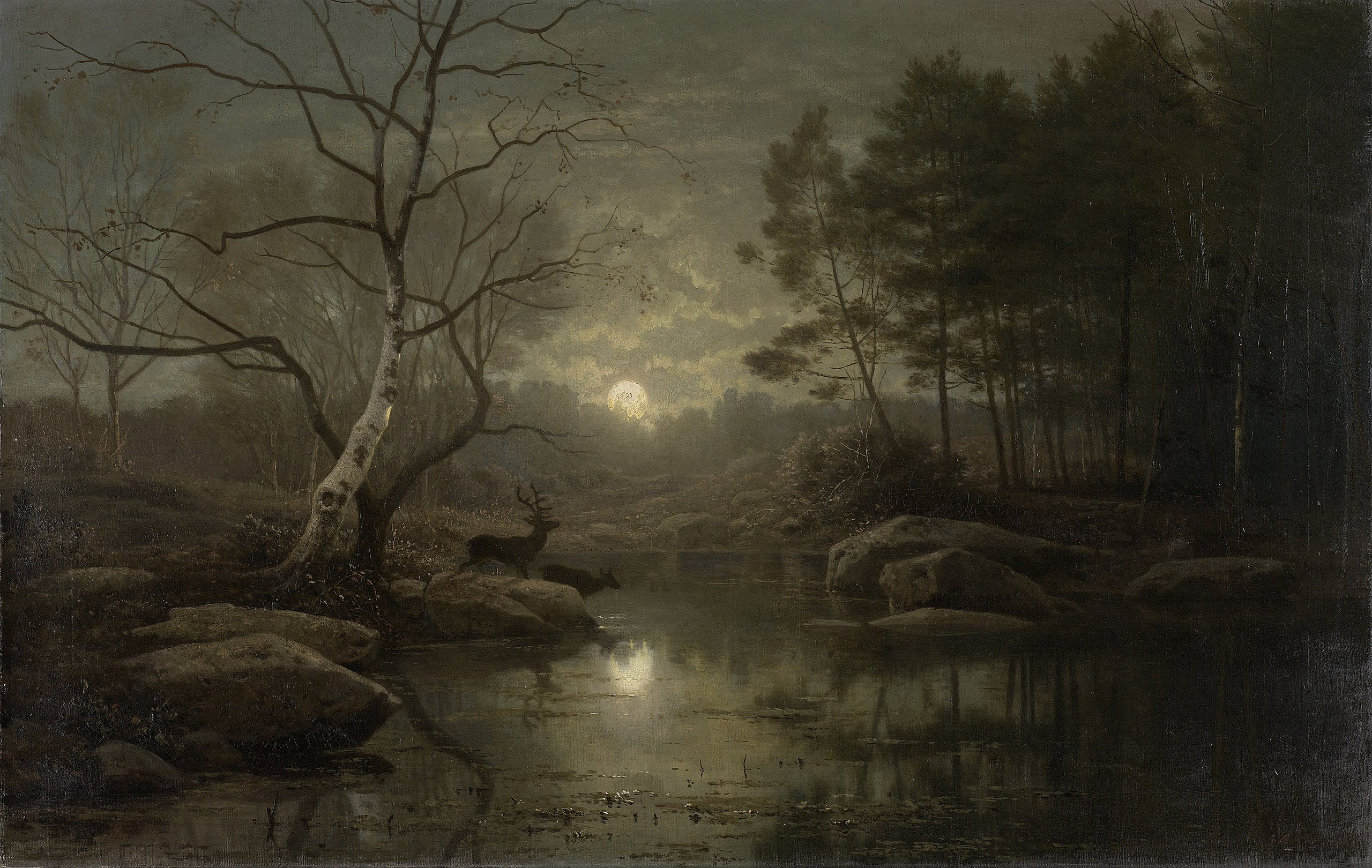 'more co 2 can be sequestered synergistically in the products or wood energy and landscape together than in the unharvested landscape. File Forest Landscape In The Moonlight By Georg Eduard Otto Saal Rijksmuseum Amsterdam Sk A 1827 Jpg Wikimedia Commons