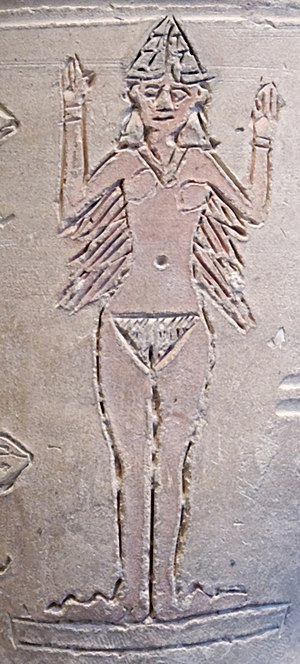 "Inanna/Ishtar depicted on the ""Ishtar vas..."