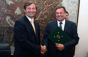 English: Karl Erjavec and Zoran Janković
