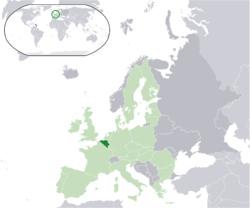 Location of Belgium