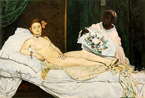 Edouard Manet, Olympia, oil on canvas, 1863, M...