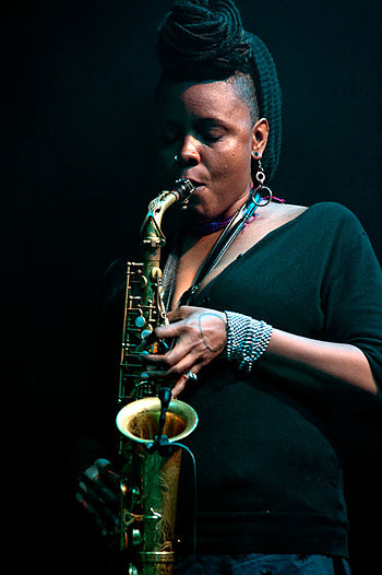 English: Matana Roberts, moers festival 2010