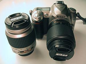 Nikon D50 double kit front