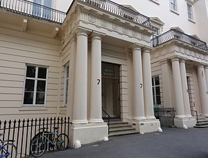 English: The entrance to the Royal Society.