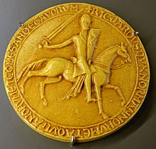 Resultado de imagen para Gran Sello Real de 1189 del rey Ricardo I.