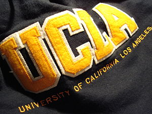 A hoodie with the University of California, Lo...