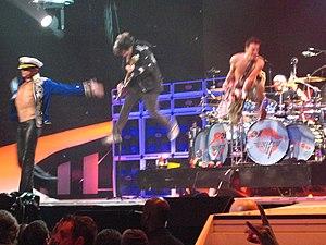 "Van Halen performs their song ""Jump""..."