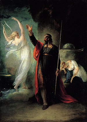 Prospero and Ariel (from Shakespeare's The Tem...