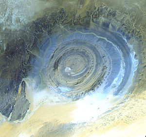 The Richat Structure in the Sahara Desert, Afr...