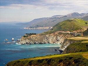 A view of the Big Sur coast including the Bixb...
