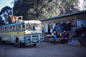 English: Chimanimani Village (Bus station) in ...