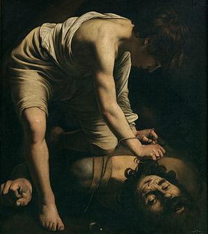 David and Goliath, by Caravaggio, c. 1599.
