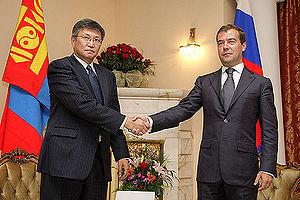 English: ULAN BATOR. With Prime Minister of Mo...