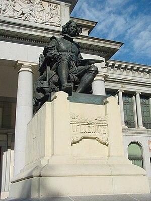 Español: Estatua de Velázquez en la entrada de...