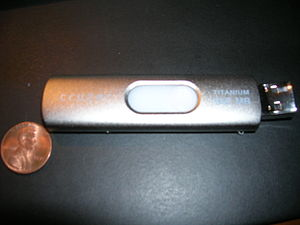 Example of a USB Flash Drive modded with a new...