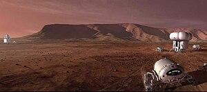 Mars-manned-mission vehicle (NASA Human Explor...