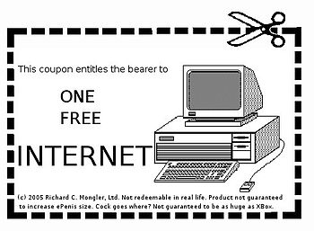 "English: A ""one free internet"" coupo..."