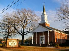 A picture of Pisgah Baptist Church in Four Oak...
