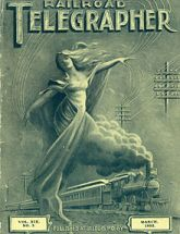 Cover of the The Railroad Telegrapher, a monthly publication for the labor union of the Railroad Telegraphers