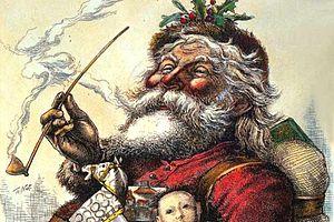 English: Portrait of Santa Claus, by Thomas Na...