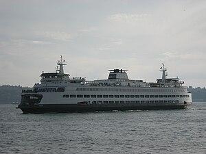 Washington State Ferry Tacoma on Elliott Bay.