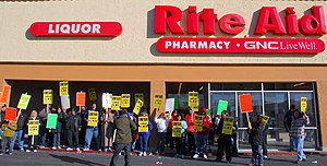 Workers and their supporters rallied at Rite A...