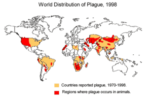 Worldwide distribution of plague infected anim...