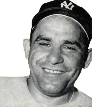 English: New York Yankees catcher Yogi Berra i...