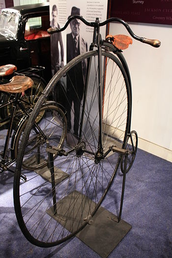 """This Penny Farthing bicycle was made at ..."