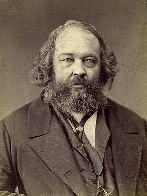 Anarchist theorist Mikhail Bakunin embraced na...