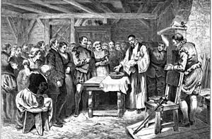 "English: ""Baptism of Virginia Dare,""..."
