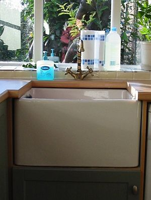 A Belfast sink in a utility room