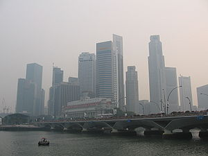 Singapore's Downtown Core on 7 October 2006, w...