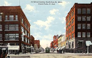 Downtown Grand Forks, North Dakota 1912