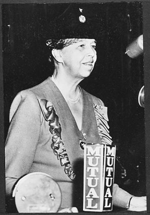 Eleanor Roosevelt at Waldorf Astoria Hotel in ...