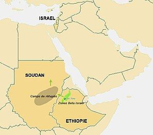 Migration Map of Beta Israel.