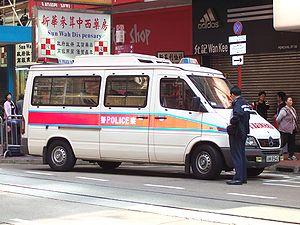 Mercedes-Benz Sprinter as a police van in Hong...