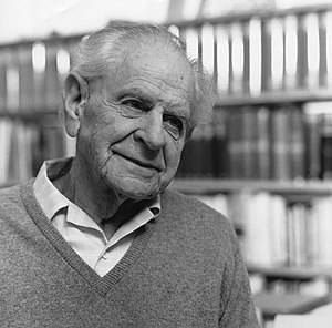 English: Karl Popper in 1990.