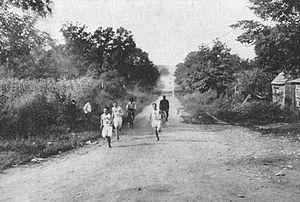 English: Marathon race led by Samuel Mellor du...