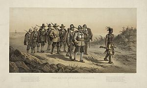 The March of Miles Standish (1623) Date made: ...