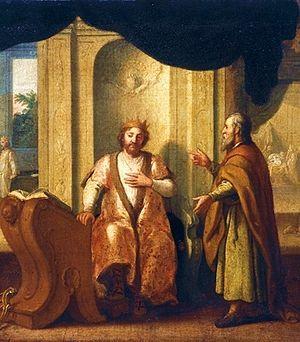 English: Nathan advises King David