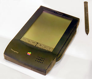 Photograph showing Apple Newton hand held comp...