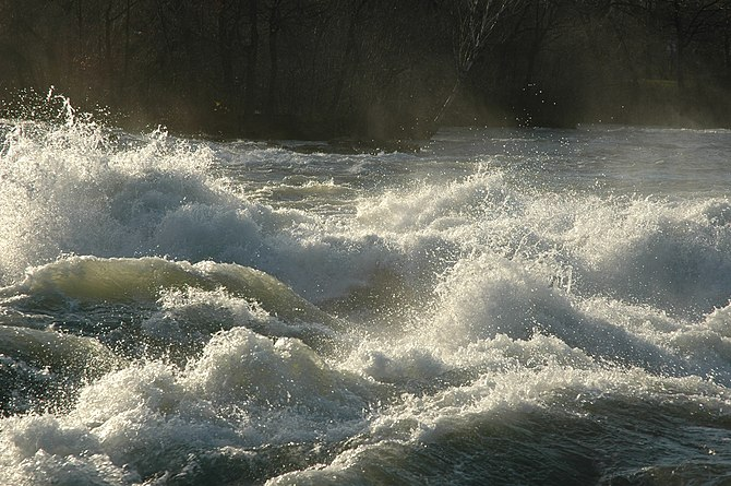 This is a shot of the Niagara River rapids jus...