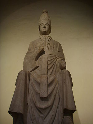 English: Pope Bonifacius VIII; statue by Arnol...