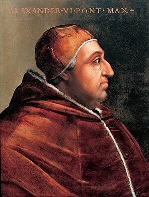 Portrait of Pope Alexander VI. Painting locate...