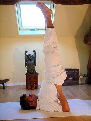 Yoga postures sarvangasana